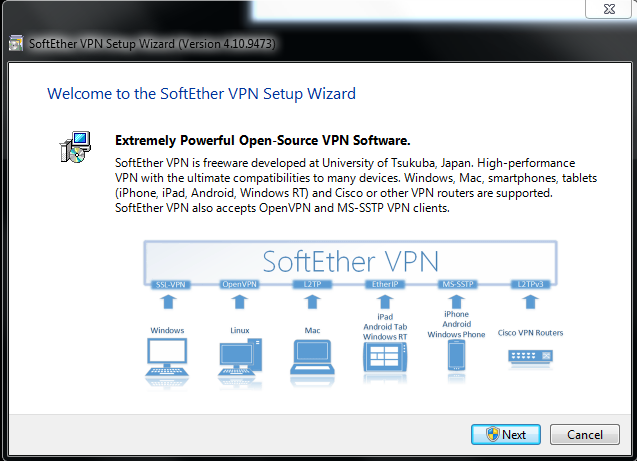 Download and install SoftEther VPN Client For Windows