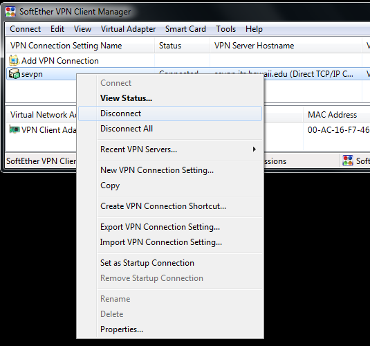 softether vpn client mac address